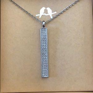 chloe + Isabel pave bar necklace